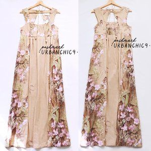 ANTHROPOLOGIE Babydoll Floral Maxi Dress size 10